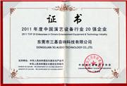 演艺设备作业证书