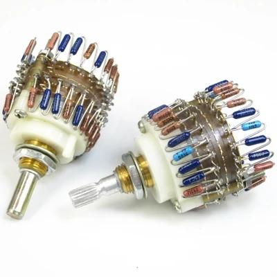 23档步进式电位器100k (双声道)音量电位器 单只价格