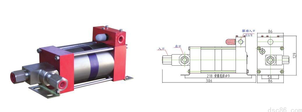 M100-2系列氣液增壓泵