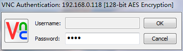 输入统一VNC密码
