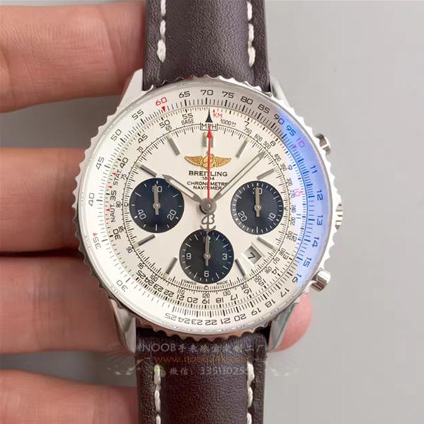 【JF厂】百年灵Breitling 航空计时 皮带白盘 7750计时腕表