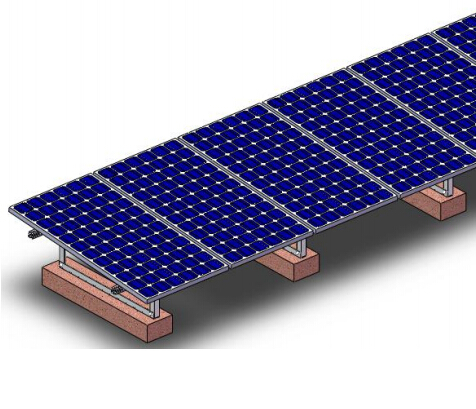 贵州平房光伏发电混凝土砼屋面前后立柱角铝支架