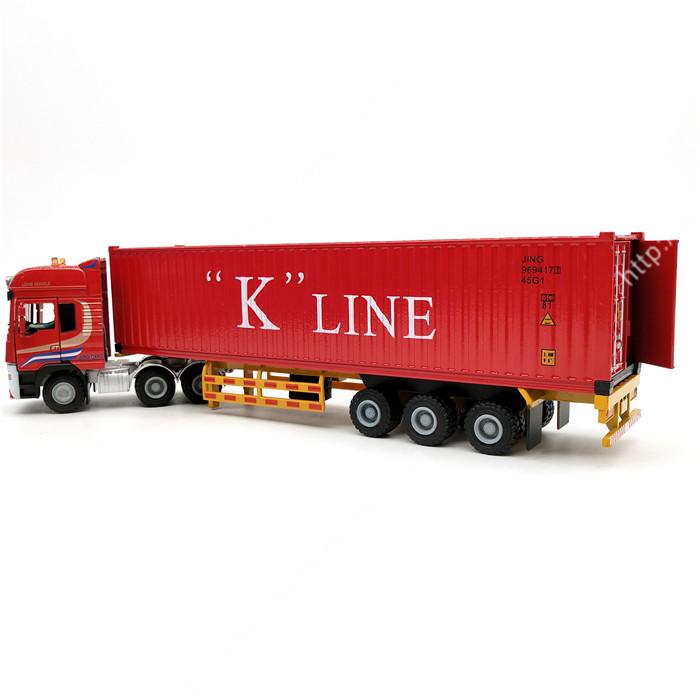 1:50集裝箱合金卡車模型- 集裝箱車模-海藝坊模型工廠