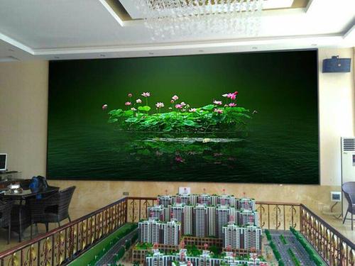 室内房产销售中心led大屏安装