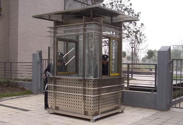不锈钢艺术岗亭案例
